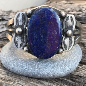 Chimney Butte Sterling Silver Blue Lapis Cuff